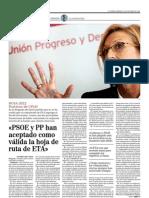 Entrevista a Rosa Díez en El Mundo 23-10-2011