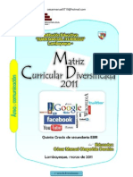 DISEÑO CURRICULAR DIVERSIFICADO - QUINTO