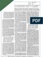 Il PD e Il Manifesto Dei T-PARTY