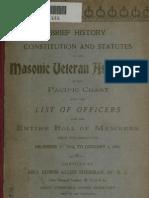 Roll of Masonic Association 1878 to 1901