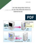 Creación de una máquina virtual para instalar una imágen desde un servidor RIS