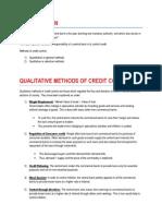 Credit Control Methods