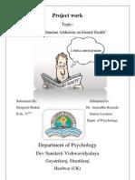 Deepesh Psychology Internet Addiction Mental Health