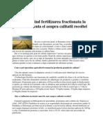 Aspecte Privind Fertilizarea Fractionată la Grau Si Influenta Ei Asupra Calitatii Recoltei