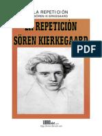 Kierkegaard La Repetición