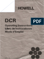 Bell Howell Projector DCR User Manual