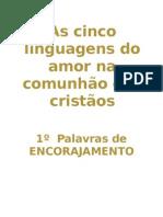 As cinco linguagens do amor na comunhão dos