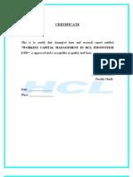 Working Capital HCL