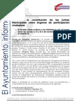 PARTICIPACIÓN CIUDADANA Constitución Juntas Distrito