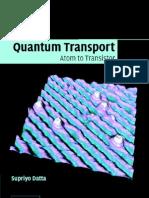 Transport Atom to Transistor Datta Supriyo