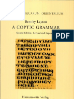 A Coptic Grammar- With Chrestomathy and Glossary - Sahidic Dialect by Bentley Layton
