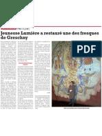 """L'une des fresques de Greschny, lauréat 2010 du prix Pèlerin """"Un Patrimoine pour Demain"""", vient d'être restaurée"""