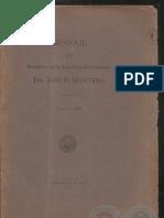 Mensaje Dr. José P. Montero 1920 - PARAGUAY - PortalGuarani