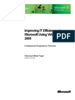 Improving IT Efficiency at Microsoft Using Virtual Server 2005