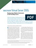 Introducing Microsoft Virtual Server 2005