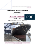Casualty Investigation Report