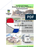 PLAN NACIONAL DE SEGURIDAD VIAL 2008  2013- PARAGUAY - PortalGuarani