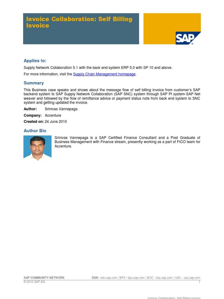 Invoice Collaboration - Self Billing Invoice | Invoice