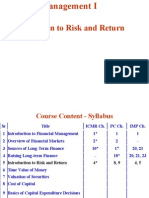 5. Introduction to Risk and Return
