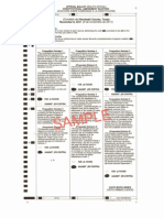 Sample Ballot - Texas Constitutional Amendments - My Choices