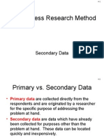 14 Secondary Data