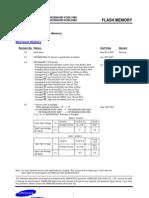 Samsung 16M x 8 Bit NAND Flash Memory Datasheet