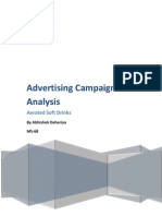 Advertising Campaigns Analysis Aerated Soft Drinks