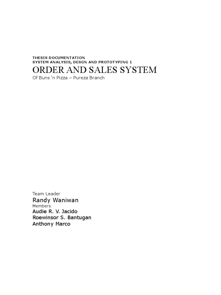thesis inventory system chapter 1