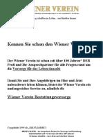 Infomappe Wiener Verein Bestattungsvorsorge