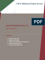 BOLETIN MERCANTIL Nº 7 (JULIO-OCTUBRE  2011)  DEFINITIVO