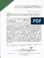 Comunicado FETRAUNIVERSITARIOS