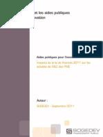 Etude SOGEDEV 2011 - Impacts de La Loi de Finances
