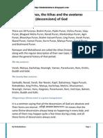 (64) the Puranas, The Itihas and the Avataras Descensions of God
