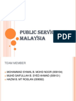 PUBLIC SERVICES IN MALAYSIA Updated by HAzim and then by saifullah