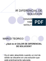 Calor Diferencial de Solucion
