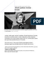 11-10-20 Republicans Block Justice Review Proposal in Senate - David Rogers _ POLITICO