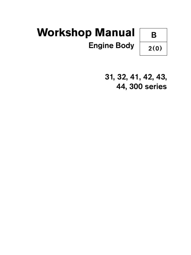 volvo kad engine body internal combustion engine piston rh scribd com Otawwa Workshop Manuals BMW Workshop Manual