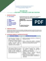 SILABO DE INTERPRETACIÓN Y PRODUCCIÓN DE TEXTOS