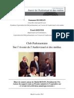 Diner-débat CPAA du  4 octobre 2011 - Rapport BOYON