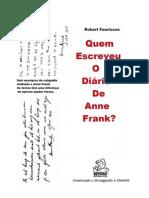 Robert Faurisson (Quem Escreveu o Diário de Anne Frank)