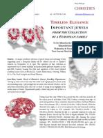 Christie's Geneva - TIMELESS ELEGANCE - Press Release