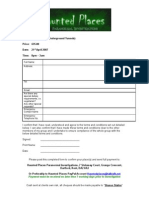 Fort Amherts Booking Form