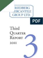 Friedberg Mercantile Quarterly Report Q3 2011