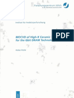 MOCVD of high-k ceramic thin films for the Gbit DRAM technology - Dissertation