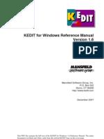 KEDIT Reference Manual