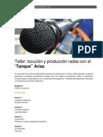 2012_Taller locución y producción radial con el Tanke Arias