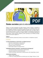 2012_Redes Sociales para la educación