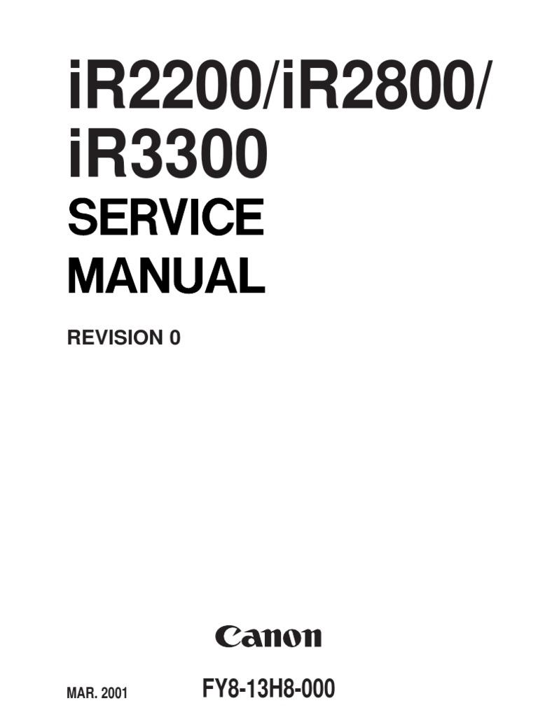 canon ir2200 ir2800 ir3300 service manual booting ip address rh es scribd com Owners Manual Canon Canon Mini Printer