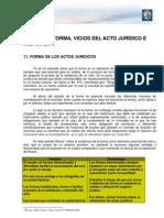 Privado 1 Lectura 4. Forma, Vicios Del Acto Juridico e Inefacia