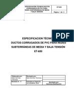 DUCTOS CORRUGADOS-ELECTRICOS